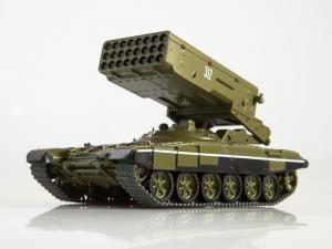 Macheta lansator de rachete rusesc T90-TOS1A, scara 1:430