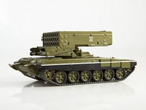 Macheta lansator de rachete rusesc T90-TOS1A, scara 1:432