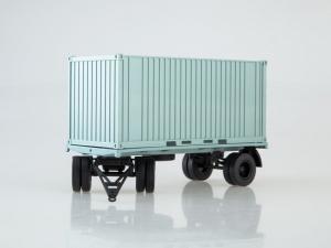 Macheta remorca pentru containere GKB-8350, scara 1:432
