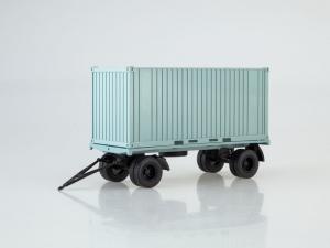 Macheta remorca pentru containere GKB-8350, scara 1:430