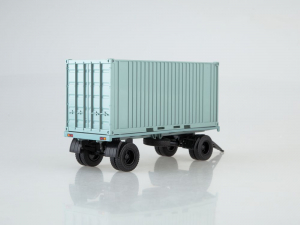 Macheta remorca pentru containere GKB-8350, scara 1:431