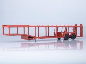 Macheta semiremorca pentru autoturisme MAZ-934410, scara 1:430