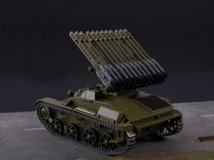 Macheta tanc rusesc T-60 cu rachete Katiusha, scara 1:431