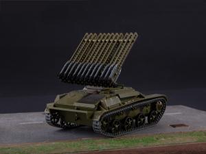 Macheta tanc rusesc T-60 cu rachete Katiusha, scara 1:432