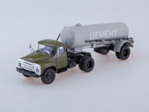 Macheta ZIL-130V1 cu cimentruc TC-4 scara 1:435