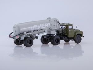 Macheta ZIL-130V1 cu cimentruc TC-4 scara 1:432