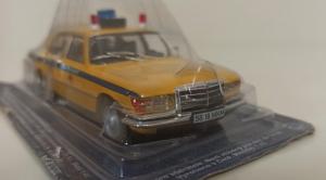 Macheta auto FMercedes Benz W116, militia sovietica, scara 1:43 - cu mic defect: sigla rupta0