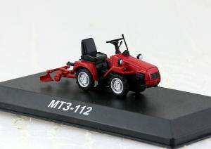 Macheta tractor MTZ-112 cu plug cultivator (rarita), Bielorusia, scara 1:430