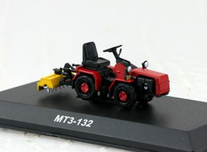 Macheta tractor MTZ-132 cu freza, Bielorusia, scara 1:430