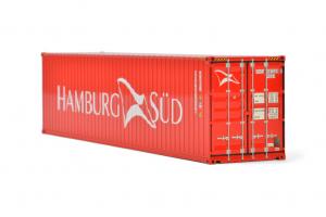 Macheta container de 40 de picoare Hamburg Sud, scara 1:500