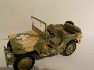 Macheta auto Jeep Willys 1941, scara 1:180