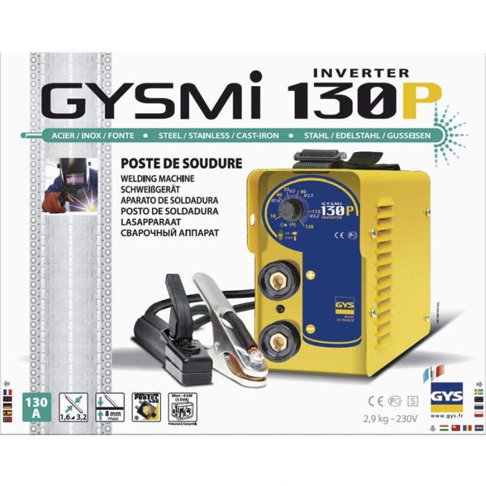Aparat de sudura GYS 029972 GYSMI 130P, tehnologie MMA - TIG 130 Amperi 1