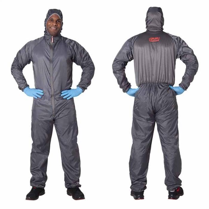 Combinezon protectie reutilizabil, Colad 5200xx BodyGuard® Premium comfort, culoare gri, cu gluga, material antistatic [1]