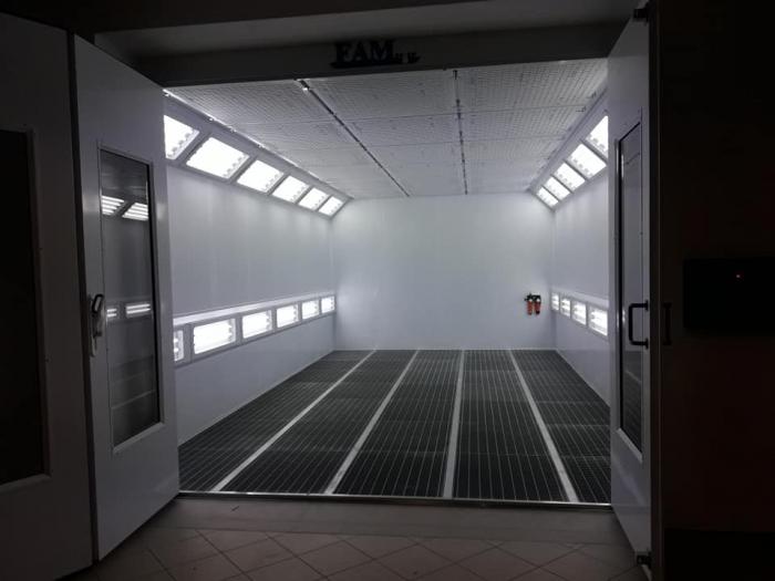 Cabina de vopsit completa, FAM Sylver 7200, arzator motorina RIELLO, dimensiune interioara 7200 x 4000 x 2800 mm, debit de aer: 20000 m3 / h [4]