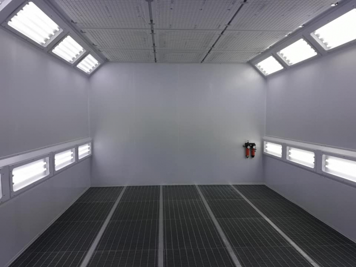 Cabina de vopsit completa, FAM Sylver 7200, arzator motorina RIELLO, dimensiune interioara 7200 x 4000 x 2800 mm, debit de aer: 20000 m3 / h [5]