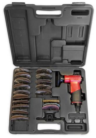 Masina slefuit pneumatica, Chicago Pneumatic CP7202D, orbitala, valiza cu discuri diferite granulati, diametru Ø 75mm [2]