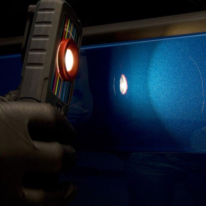 Lampa verificat nuanta vopselei Colad 9330 cu led si acumulator si stand incarcare 1