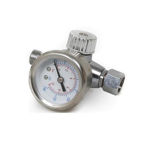 Regulator de presiune aer cu manometru mecanic, Gloss GFR-5, montare pe furtun, cupla 1/4, maxim 10 bar [0]