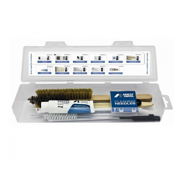 Pachet universal, Anest Iwata W2KIT55,curatat si intretinere pistol de vopsit, cutie21 piese [0]