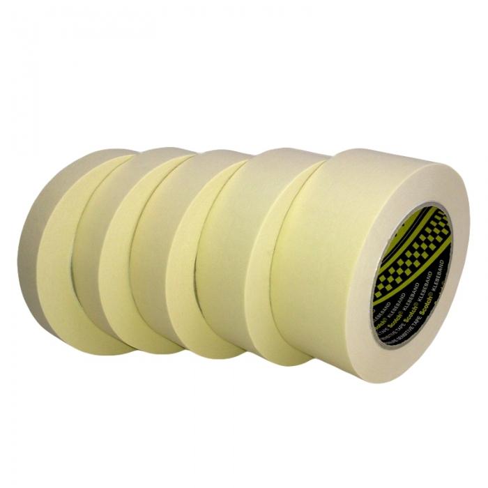 Banda mascare hartie 3M 2328 Scotch®, rezista pana la 80 °C, culoare crem, lungime 50 metri 0