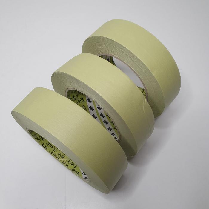 Banda mascare hartie 3M 3030 Scotch®, rezista pana la 100 °C, culoare verde, lungime 50 metri [1]