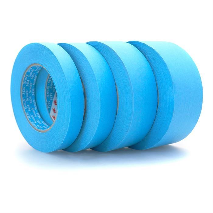 Banda mascare hartie 3M 3434 Scotch®, rezista pana la 110 °C, culoare albastra, lungime 50 metri 0