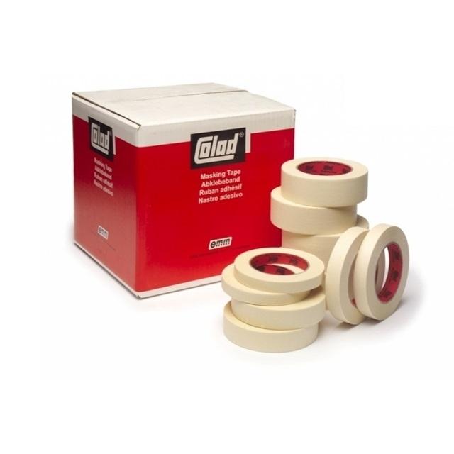 Banda mascare hartie 9075xx Premium, rezista pana la 80 °C, culoare crem, lungime 50 metri 1