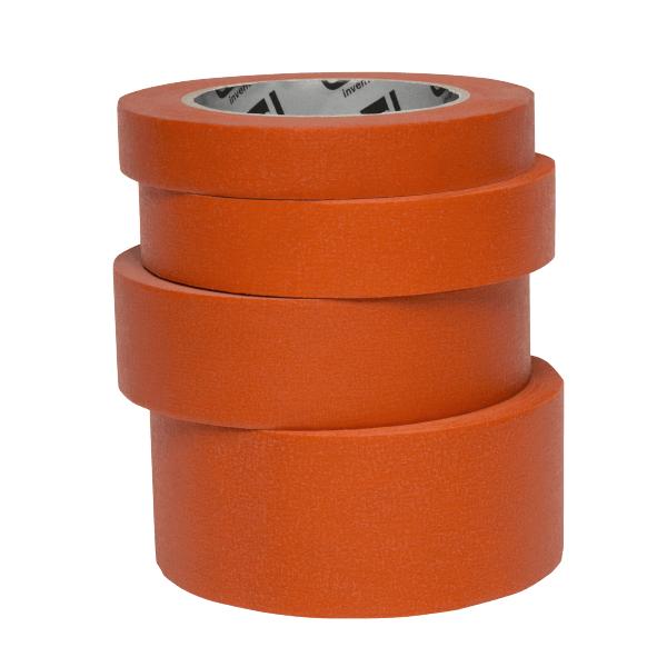 Banda mascare hartie Colad 9000xx Orange™ Masking Tape, rezista pana la 100 °C, culoare portocaliu, lungime 50 metri 0