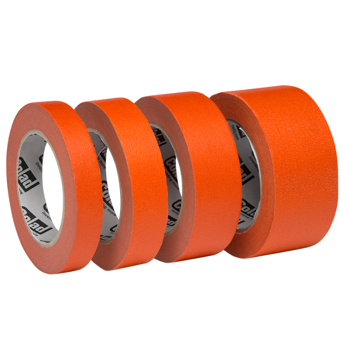 Banda mascare hartie Colad 9000xx Orange™ Masking Tape, rezista pana la 100 °C, culoare portocaliu, lungime 50 metri 1