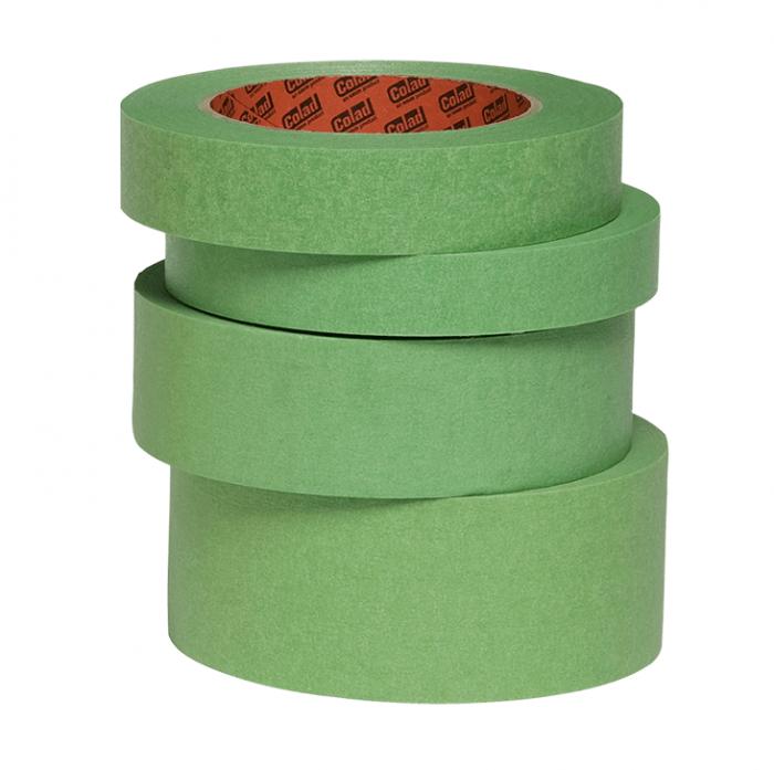 Banda mascare hartie Colad 9004xx Aqua Dynamic, rezista pana la 130 °C, culoare verde, lungime 50 metri 0