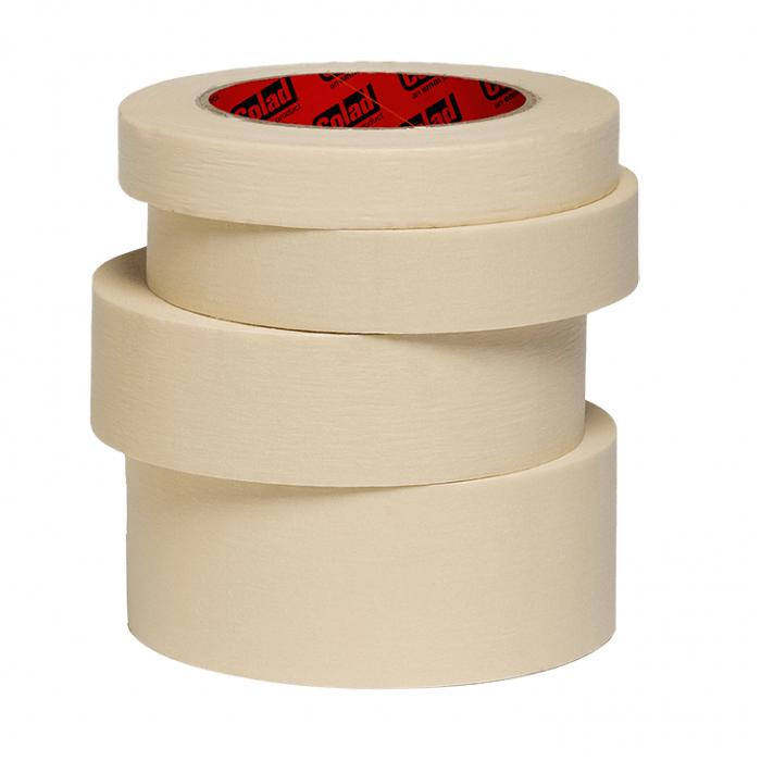 Banda mascare hartie Colad 9075xx Classic, rezista pana la 60 °C, culoare crem, lungime 50 metri 0