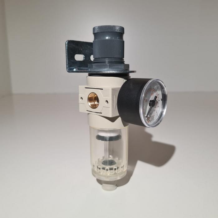 Baterie filtrare aer comprimat, MW A100, filtrare aer vopsitorie cu regulator, baterie 1 filtru, pana la 20 microni, debit 600 l/min [2]