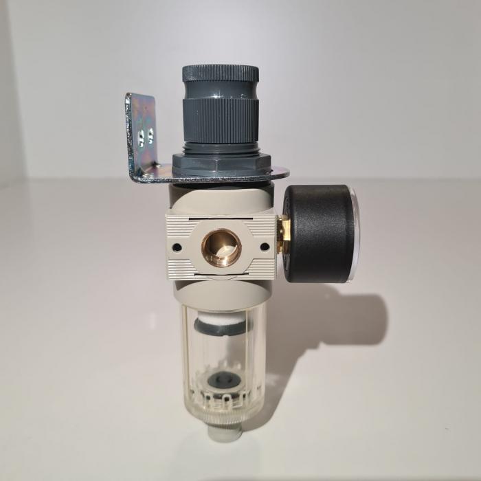 Baterie filtrare aer comprimat, MW A100, filtrare aer vopsitorie cu regulator, baterie 1 filtru, pana la 20 microni, debit 600 l/min [3]