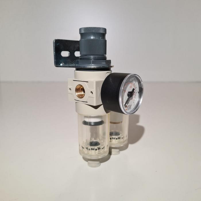 Baterie filtrare aer comprimat, MW A200, filtrare aer vopsitorie cu regulator, baterie 2 filtre, pana la 0.01 microni, debit 250 l/min [3]