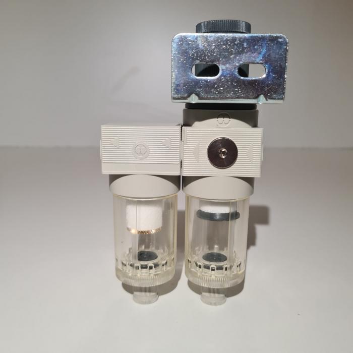 Baterie filtrare aer comprimat, MW A200, filtrare aer vopsitorie cu regulator, baterie 2 filtre, pana la 0.01 microni, debit 250 l/min [2]