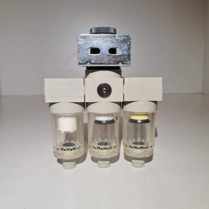 Baterie filtrare aer comprimat, MW A300, filtrare aer vopsitorie cu regulator, baterie 3 filtre, pana la 0.01 microni, debit 200 l/min [3]