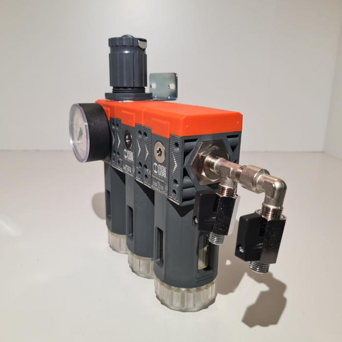 Baterie filtrare aer comprimat, MW B300, filtrare aer vopsitorie cu regulator, baterie 3 filtre, pana la 0.003 microni cu carbon activ, debit 800 l/min [2]