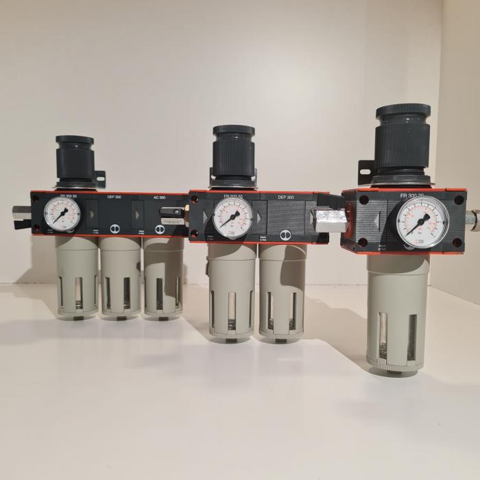 Baterie filtrare aer comprimat, MW D100, filtrare aer vopsitorie cu regulator, baterie 1 filtru, pana la 20 microni, debit 5600 l/min [5]