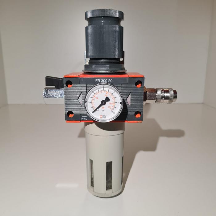 Baterie filtrare aer comprimat, MW D100, filtrare aer vopsitorie cu regulator, baterie 1 filtru, pana la 20 microni, debit 5600 l/min [4]