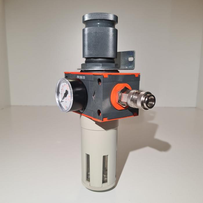 Baterie filtrare aer comprimat, MW D100, filtrare aer vopsitorie cu regulator, baterie 1 filtru, pana la 20 microni, debit 5600 l/min [1]