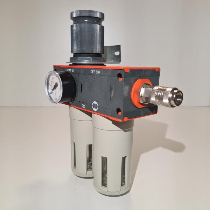 Baterie filtrare aer comprimat, MW D200, filtrare aer vopsitorie cu regulator, baterie 2 filtre, pana la 0.01 microni, debit 1100 l/min [2]