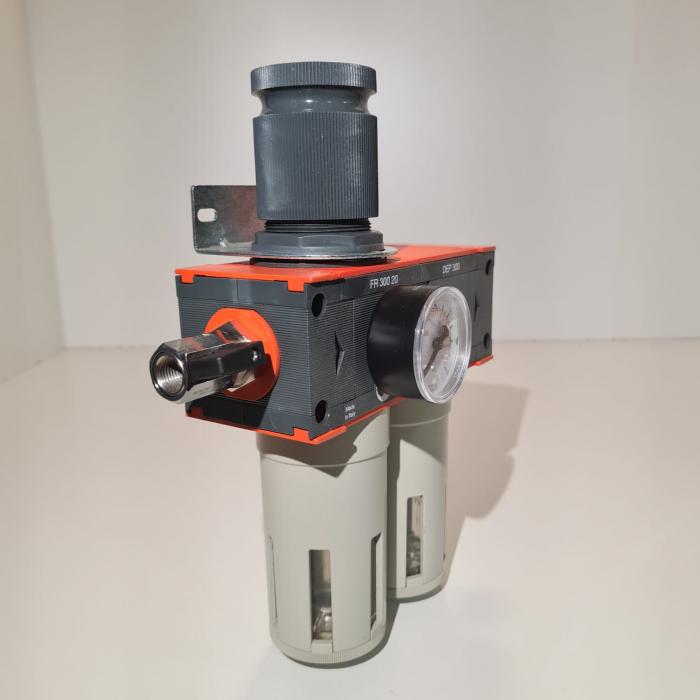 Baterie filtrare aer comprimat, MW D200, filtrare aer vopsitorie cu regulator, baterie 2 filtre, pana la 0.01 microni, debit 1100 l/min [1]