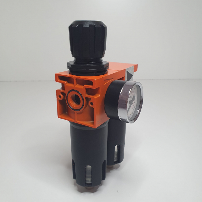 Baterie filtrare aer, DeVilbiss FLRC-1, filtrare aer cu regulator, baterie 2 filtre, pana la 0.01 microni [1]