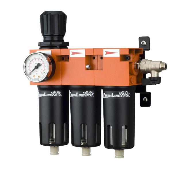 Baterie filtrare aer, DeVilbiss FLRCAC-1, filtrare aer cu regulator, baterie 3 filtre, pana la 0.003 microni cu carbon activ [0]