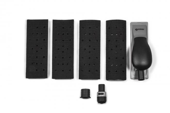 Bloc de slefuit manual Finixa SAB 35 cu maner si aspiratie ergonomic + 4 adaptoare forme diferite 198mm x 70mm 0