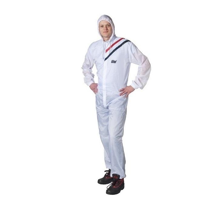 Combinezon protectie reutilizabil, Colad 5100xx Nylon comfort, culoare alba, cu gluga, material antistatic [1]