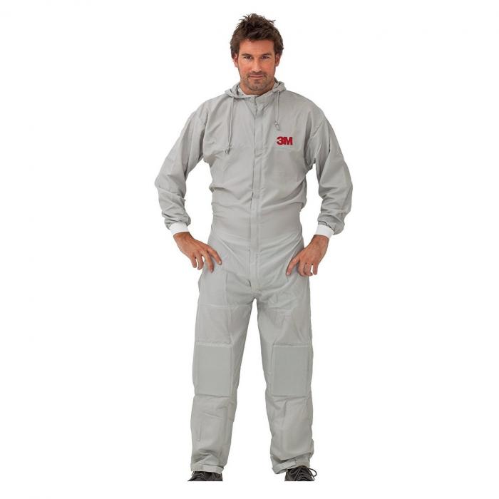 Combinezon protectie impermeabil, 3M™ 50425, cu gluga, culoare gri, difetite marimi, foarte rezistent, fără scame pentru uz general 0