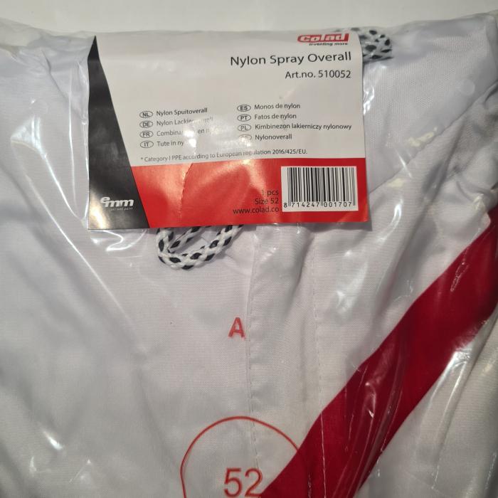 Combinezon protectie reutilizabil, Colad 5100xx Nylon comfort, culoare alba, cu gluga, material antistatic [3]