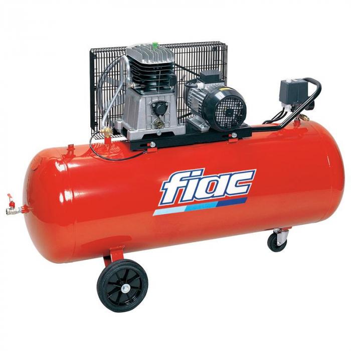Compresor aer cu piston monofazat, Fiac AB300/415MC, alimentare 220 V, aer aspirat 410 l/min, butelie 270 litri [0]