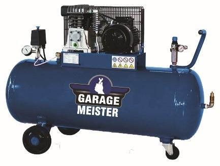 Compresor aer cu piston, Garage Meister GM20/200, alimentare 220 V, aer aspirat 400 l/min, butelie 200 litri [0]